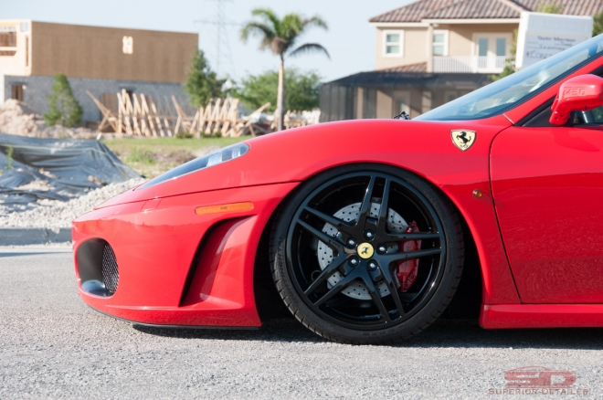 Ferrari F430-Light Paint Correction Detail - Auto Detailing Orlando